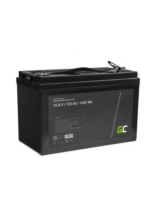 Green Cell akkumulátor/akku LiFePO4 125Ah 12.8V lithium iron foszfát, fotovoltaikus, napelemes rendszerű kempingautóhoz