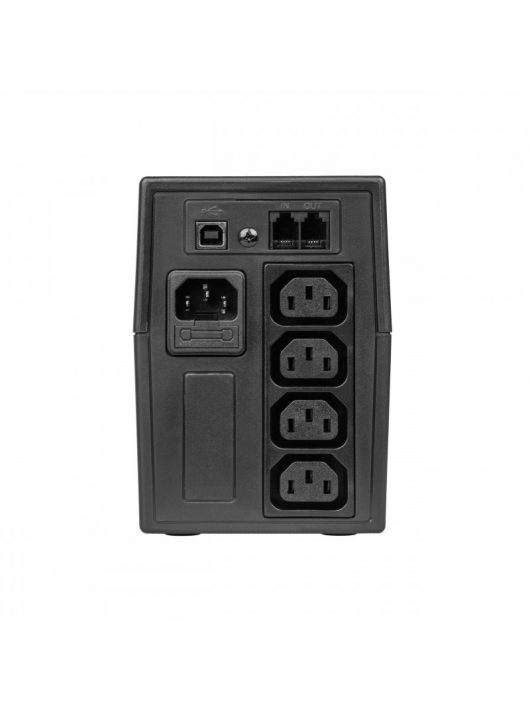 UPS Szünetmentes tápegység Micropower 600VA 360W LCD kijelző UPS01LCDUK