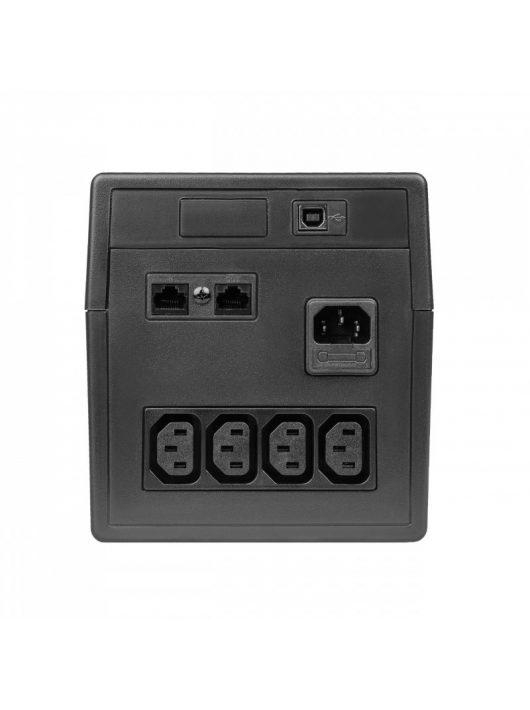 UPS Szünetmentes tápegység Micropower 1000VA 600W  LCD kijelző