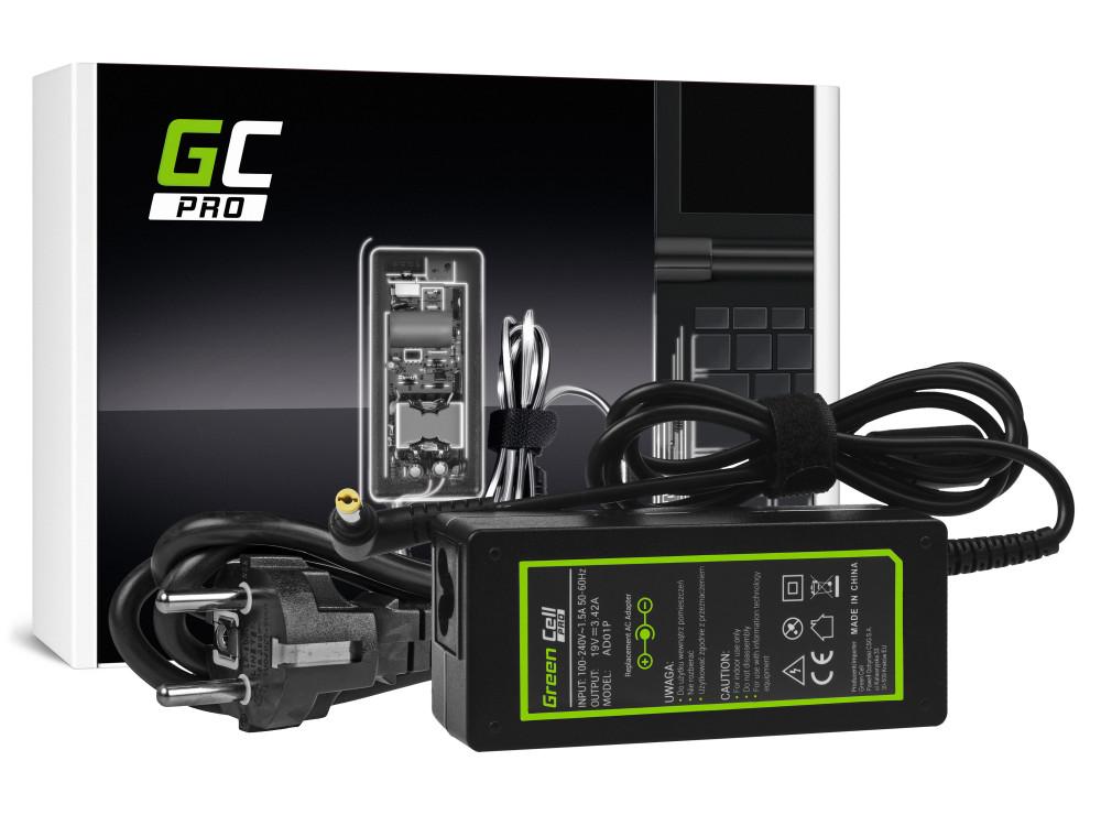 Green Cell PRO Töltő / Hálózati Töltő Acer Aspire E1-521 E1-531 E1-571 Aspire 2000 5741 5742 19V 3.42A